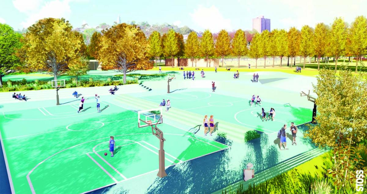 Moakley Park sports courts.jpg
