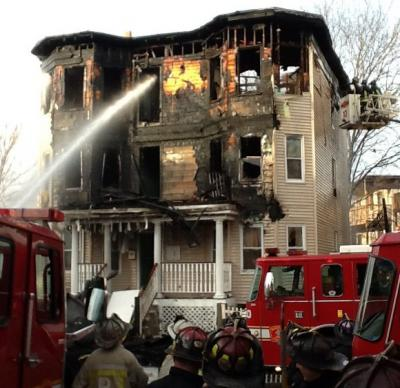 Fire on Harvard Ave.