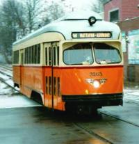 PCC trolley on the Mattapan line