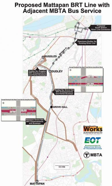 Proposed Mattapan BRT line