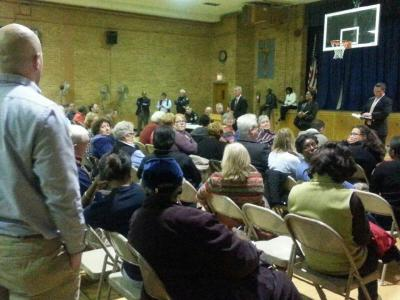 Lower Mills public safety meeting on Nov. 10, 2014: Image courtesy Rep. Cullinane's office