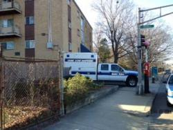 135 Granite Avenue: Scene of heavy police activity this afternoon.
