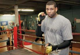 Donnie Palmer at the Grealish Boxing Gym on East Cottage Street, 2009: Photo by Pete Stidman