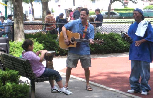 Jammin' at Byrne Playground: Photo by Alex Owens