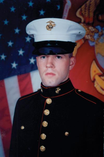 Patrick Callahan, 23, will be the keynote speaker at May's Memorial Day observances. The Savin Hill resident served two tours as a Marine sergeant in Iraq.