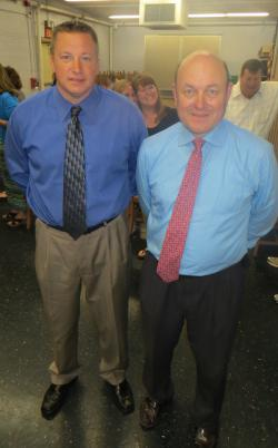 Adams Village Business Association Honorees: Det. Steve Charbonnier, left, and Tom Cifrino