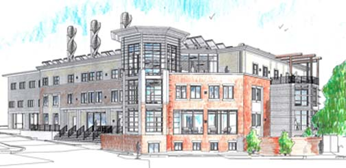 Codman Square Health Campus: An architect's rendering of the proposed new building. Courtesy HKT Architects
