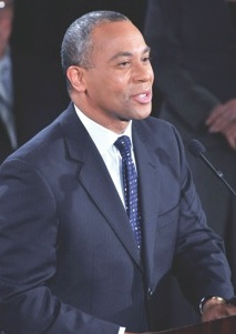 Gov. Deval Patrick: Huge margins in city neighborhoods helped cushion his statewide lead. Photo by Don West