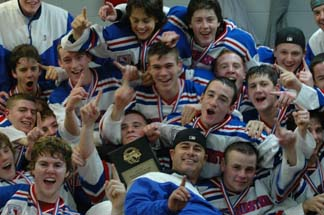 Dorchester Youth Hockey Chiefs: Under 18 squad celebrates another state title.