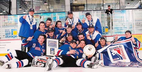 National champs: Dorchester Chiefs celebrate their 2010 USA Hockey Tier II Under-18 championship