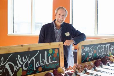 Former Trader Joe's executive Doug Rauch is the man behind the new start-up, The Daily Table, which opens on Friday in Codman Square. Photo courtesy The Daily Table