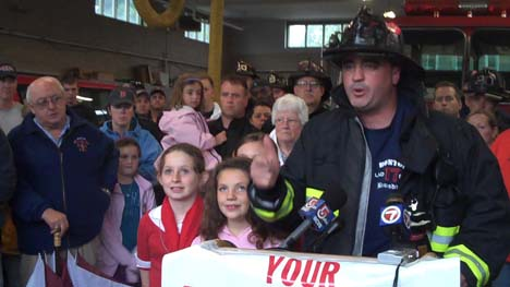 Union rips Menino, Fire Department: Ed Kelly, president of Boston Firefighters Union Local 718, speaks at a press conference at the Engine 20 fire station on Wednesday, July 1, 2009. Photo by Bill Forry