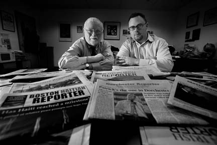 Ed and Bill Forry: Ed and Bill Forry, Reporter Newspapers, 2008. Photo by Bill Brett
