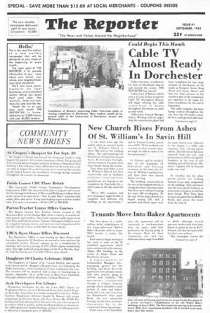Inaugural Issue : The first edition of the Dorchester Reporter, published in Sept. 1983.