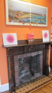 This mantel is one of the few original interior elements that remained intact over generations of owners.