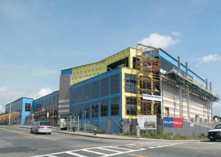 Kroc Center on Dudley Street: Shown while still under construction in 2010.