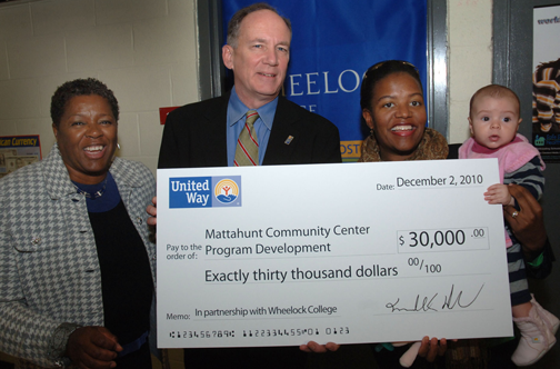 United Way supports Mattahunt Center