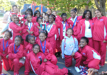 Mattapan Patriots Cheerleaders: Bound for national competition— hopefully.