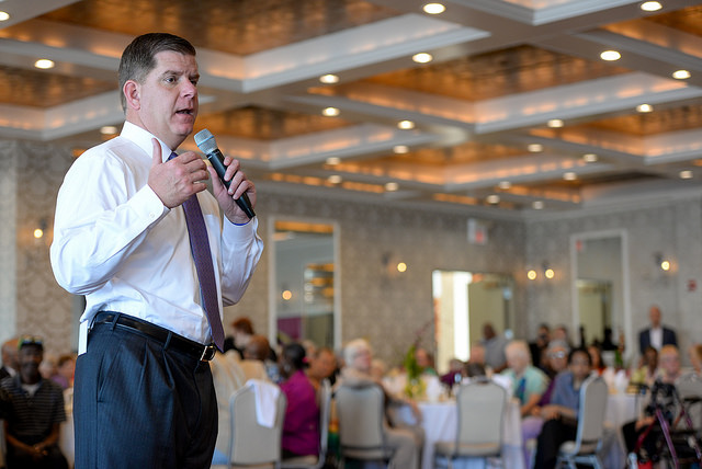Mayor Walsh at LGBT Senior Event in Dorchester last week: 'As a city, we're gonna try. Why shouldn't we try things?'