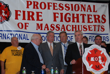 Flaherty and firefighters: Endorsement announced