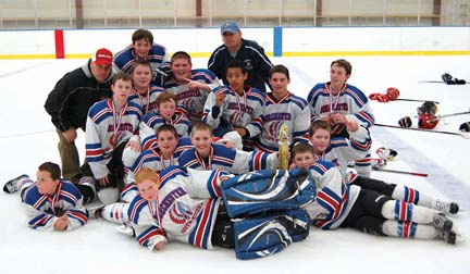 Pee Wee A team, DYH 2012: The 11 and 12 year-old team played for a state banner this weekend.