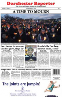 Dorchester Reporter cover— April 18, 2013: Edition won top award for spot news for weekly paper.