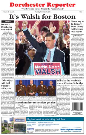 Walsh for Boston : Reporter 2013 mayoral election cover