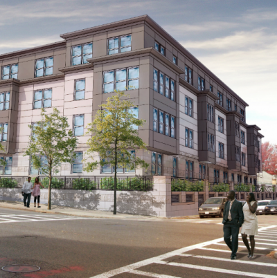 Cote Village: A rendering of the Cote Village housing complex. Photo courtesy Boston Redevelopment Authority