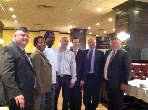 Small Business: Treasurer Grossman and Rep. Forry toured the Slate Bar & Grill this week, highlighting a small business in the Financial District funded through a Dorchester bank and owned by neighborhood contractors.