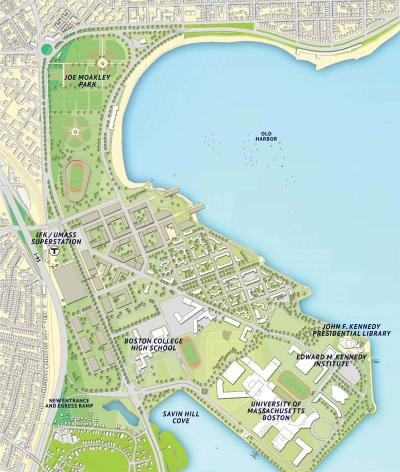 Columbia Point Olympic Athletes' Village Map