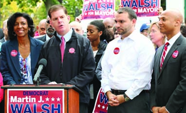 Charlotte Golar Richie endorses Walsh: The third-place finisher in September's preliminary election is the third candidate of color to back Walsh. Photo courtesy Walsh campaign