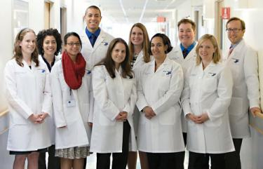 Carney Residents: Ten newly-minted doctors began working as residents in Carney Hospital's Family Medicine department last week— a major boost in capacity for Dorchester's key health care facility. 	Photo by John Gillooly