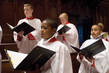 The All Saints Choir of Men and Boys ring out in song. 	Photo courtesy All Saints Church