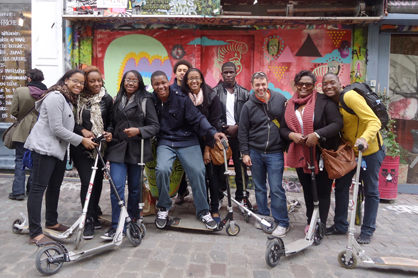 Codman Academy students in Paris: Dorchester kids visited the Belleville section of Paris during a visit last year. Photo courtesy Codman Academy