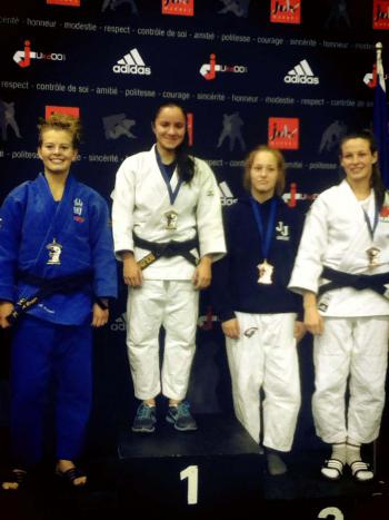 Maria Dhami, second from left, is a National Junior Judo Champion who hopes to represent the US on the Olympic Judo team.