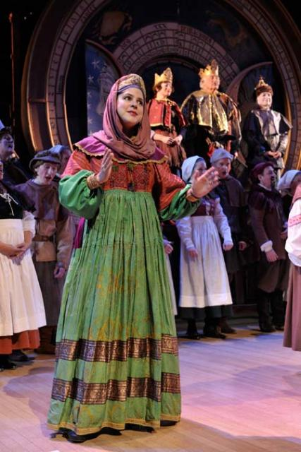 Soloist Salome Sandoval performs in a scene from this year's Christmas Revels in Cambridge.