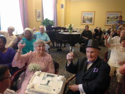 Fred and Anne Blesedell celebrate their 60th wedding anniversary at Standish Village on June 29. Their actual anniversary is July 30.  Photo courtesy Standish Village