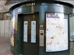 A public toilet in Copley Sq. could be Ashmont-bound.