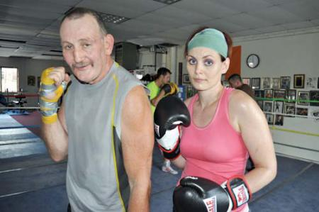 Family that trains together: Maureen O'Brien and her father, John O'Brien. Photo by Bill Forry