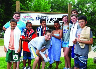 Ten members of the Boys & Girls Clubs of Dorchester attended the five-day Dan Duquette Sports Academy in Hinsdale, MA to take part in the All-Sports Camp. Our thanks to the Yawkey Foundation for making this opportunity possible.