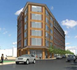 A rendering of the Ashmont Tire development. Courtesy the architectural team