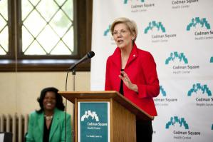US Sen. Elizabeth Warren at Codman Square Health Center.