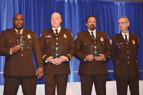 For their actions after the bombings at the Boston Marathon, Christopher Holgate, John Cotter, and Randall Souza were awarded the Medal of Honor by the Boston Emergency Medical Services at a dinner on Friday at Venezia in Port Norfolk.