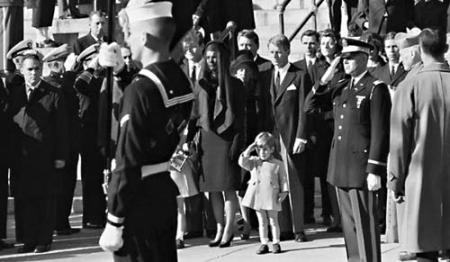 A son's salute: John F. Kennedy Jr. saluting his father's casket on Nov. 25, 1963. Photo by Stan Steams/Corbis