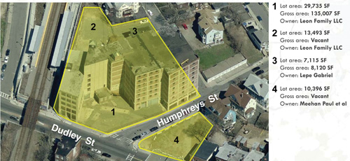 Missing link on Dudley: A report prepared for the BRA envisions a potential re-use of the Leon Electric parcels.