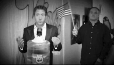 David Portnoy, left, hired a firm to collect 5,000 signatures to join the mayoral race. The Lower Mills resident operates a network of websites called Barstool Sports. 	Image from YouTube