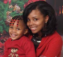 Satisha Cleckley and her daughter Ja'Niya