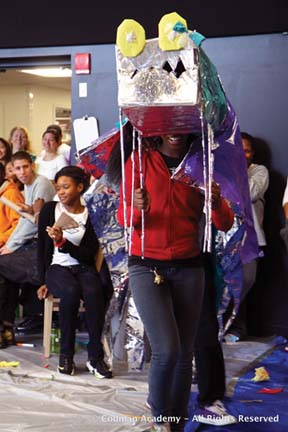 Codman Academy students create dragons for First Night: Image courtesy Codman Academy