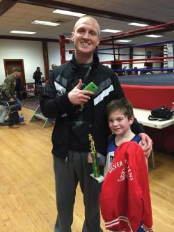 Steven O'Malley, Jr.: Steven O'Malley, Jr. pictured with his trainer Jason Kelly.