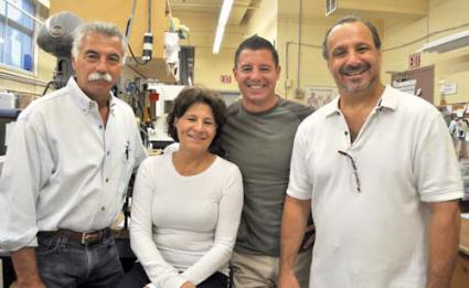 Family Business: Five members of the Martino family operate United Prosthetics, Inc. on Columbia Road: from left: Siblings Paul, Mary, Greig and Christopher Martino, who is Paul's son and represents the fourth generation of Martinos. Gary Martino, who is not shown, runs the company's production department. Photo by Bill Forry